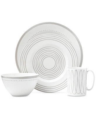 Charlotte Street West Grey Collection 4 Piece Place Setting by Kate Spade New York