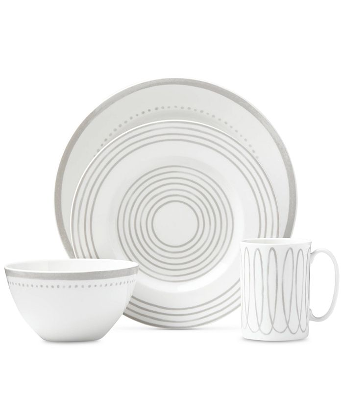 kate spade new york - Charlotte Street West Grey Collection 4-Piece Place Setting