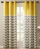 Intelligent Design Alex Colorblocked Chevron-Print Room Darkening Grommet Window Panel Pairs