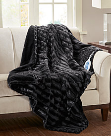 Beautyrest Duke Faux-Fur Heated Throw