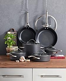 Contemporary Nonstick 11-Pc. Cookware Set