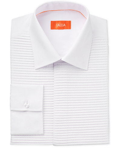 tallia men 39 s slim fit horizontal bib tuxedo dress shirt