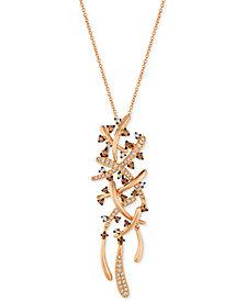 Le Vian Chocolatier® Diamond Pendant Necklace (5/8 ct. t.w.) in 14k Rose Gold