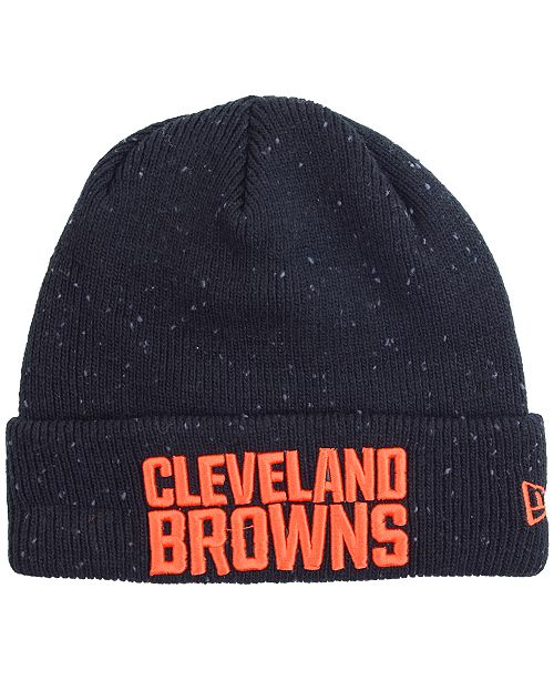 timeless design 92e9a cd41f ... new zealand cleveland browns heather spec knit hat c5eb4 2add2