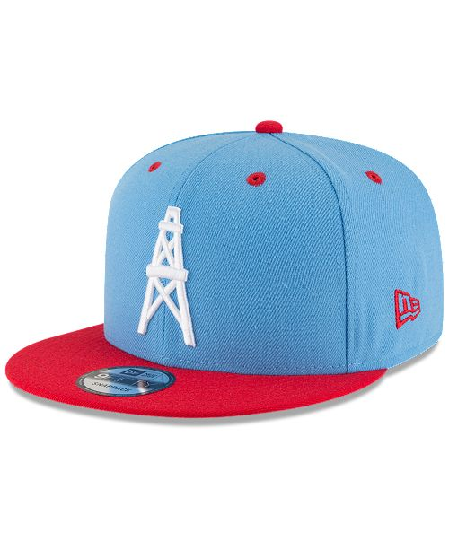 34905b0e2bd93 ... New Era Houston Oilers Historic Vintage 9FIFTY Snapback Cap ...