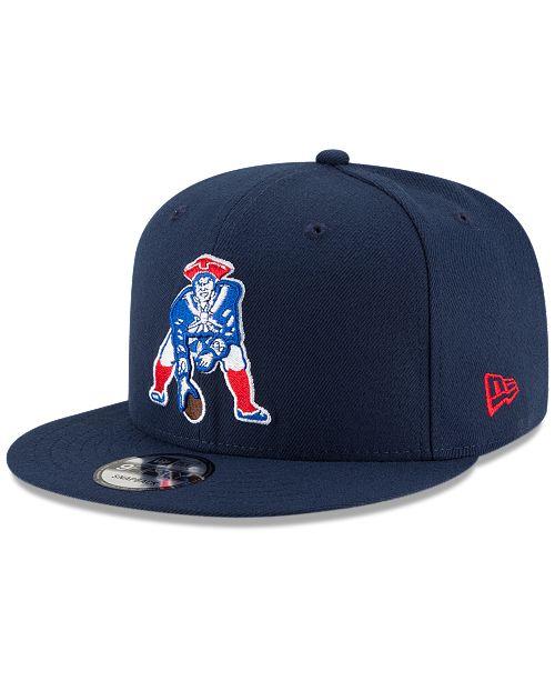 c1ff30cb407 ... New Era New England Patriots Historic Vintage 9FIFTY Snapback Cap ...