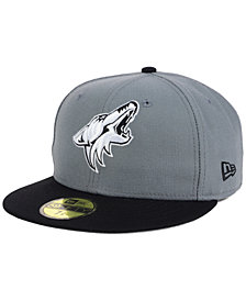 New Era Arizona Coyotes Gray Black 59FIFTY Cap