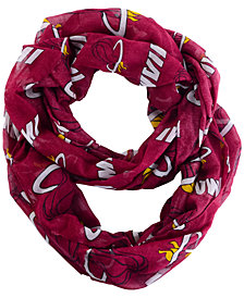Forever Collectibles Miami Heat All Over Logo Infinity Wrap Scarf