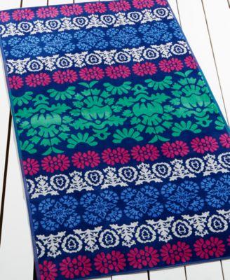martha stewart collection malibu garden beach towel created for macyu0027s - Beach Towels On Sale