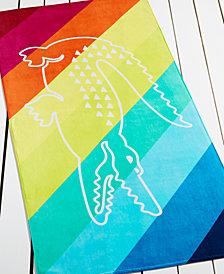 Lacoste Crocostripe Beach Towel
