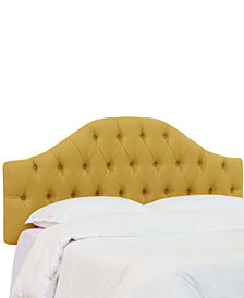 Jaycin Queen Diamond Tufted Headboard, Quick Ship