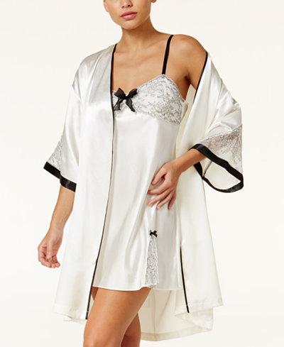 Thalia Sodi Lace And Satin Bridal Wrap Robe, Created for Macy's