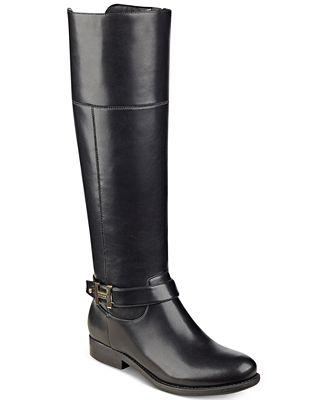 3c5b9b5d832 Tommy Hilfiger Shahar Wide-Calf Riding Boots - Boots - Shoes - Macy s