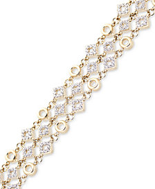 Wrapped in Love™ Diamond Link Bracelet (1 ct. t.w.) in 14k Gold, Created for Macy's