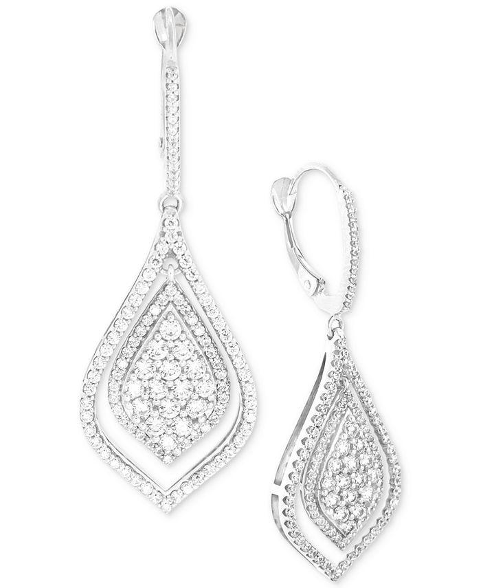 Wrapped in Love - Diamond Teardrop-Style Drop Earrings (1-1/2 ct. t.w.) in 14k White Gold
