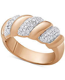 Diamond San Marco Ring (1/4 ct. t.w.) in Sterling Silver, 18K Gold-Plated Sterling Silver, or 18K Rose Gold-Plated Sterling Silver