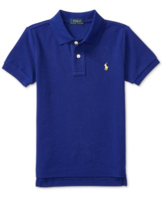 Image of Ralph Lauren Mesh Polo Shirt, Toddler Boys (2T-4T) & Little Boys (2-7)