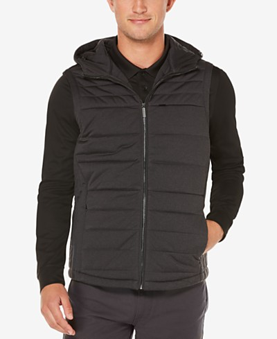 Perry Ellis Men's Hooded Puffer Vest