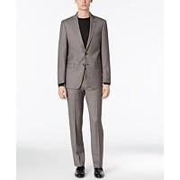 Calvin Klein Men's Extra-Slim Fit Suit (Black And White)