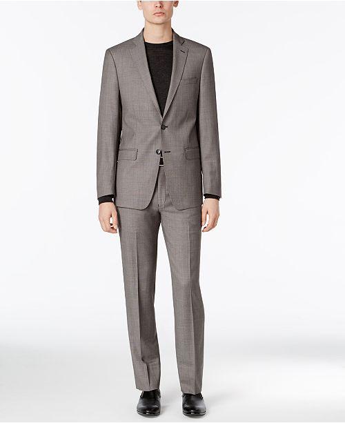 86e930faef79 ... Birdseye Suit  Calvin Klein Men s Extra-Slim Fit Black White Birdseye  ...
