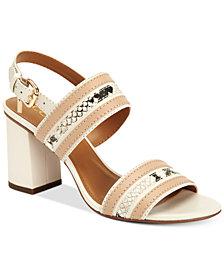 COACH Princeton Block-Heel Dress Sandals