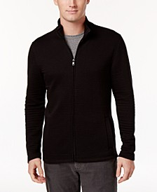 Men's Textured Zip-Front Jacket, Created for Macy's