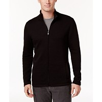 Deals on Alfani Men's Textured Zip-Front Jacket