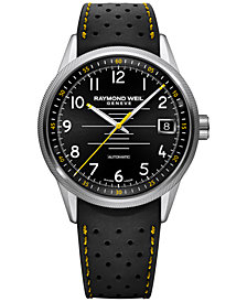 RAYMOND WEIL Men's Swiss Automatic Freelancer Black Rubber Strap Watch 42mm 2754-SR-05200