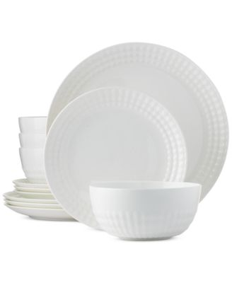 CLOSEOUT! Hotel Collection Apex Coupe 12-Piece Dinnerware Set Service for 4  sc 1 st  Macy\u0027s & CLOSEOUT! Hotel Collection Apex Coupe 12-Piece Dinnerware Set ...