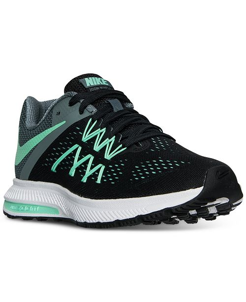 Nike Women s Air Zoom Winflo 3 Running Sneakers from Finish Line ... b780a693a7e2