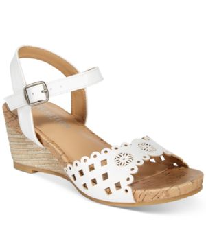 Kenneth Cole Swirl Laser Wedge Sandals, Little Girls (11-3) & Big Girls (3.5-7)