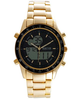 kenneth cole new york s analog digital gold tone