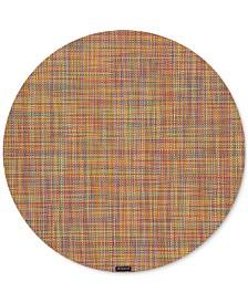 "Mini Basketweave 15"" Round Placemat"