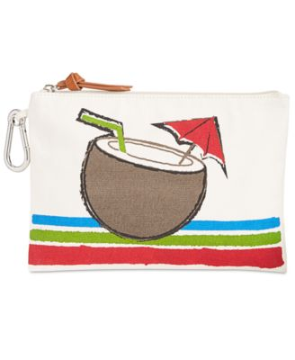 Image of Style & Co. Canvas Water Resistant Pouch, Only at Macy's