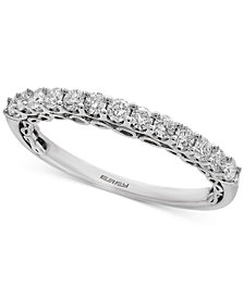 EFFY® Infinite Love Diamond Anniversary Band (3/8 ct. t.w.) in 18k White Gold