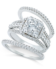 Diamond Bridal Set (1-1/2 ct. t.w.) in 14k White Gold or Rose Gold