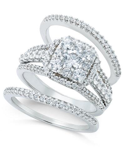 Diamond Bridal Set (1-1/2 ct. t.w.) in 14k White Gold or Rose Gold