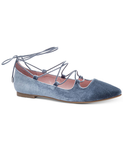 Chinese Laundry Endless Summer Velvet Lace Up Flats