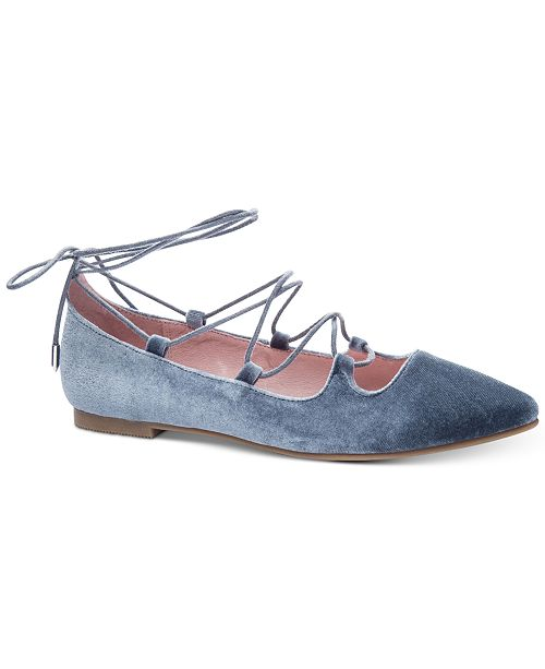 Chinese Laundry Endless Summer Velvet Lace-Up Flats
