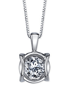 Sirena Diamond Modern Pendant Necklace (1/4 ct. t.w.) in 14k White Gold