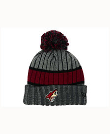 New Era Phoenix Coyotes Stripe Chiller Pom Knit Hat