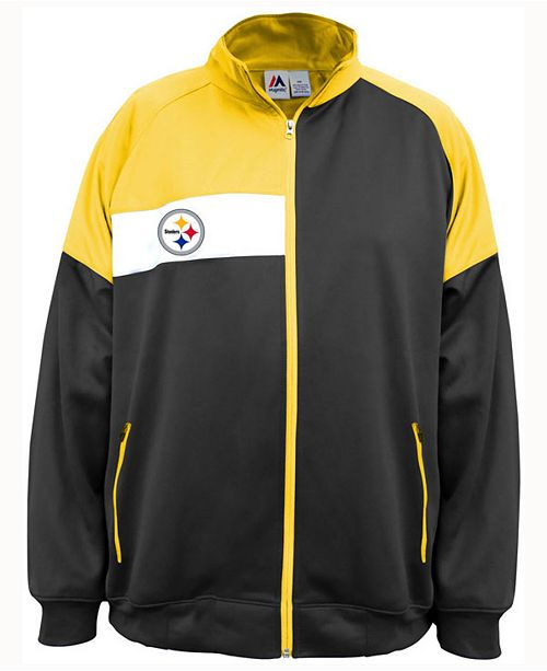 wholesale dealer 30f7f 52e6b Majestic Men's Pittsburgh Steelers Court Track Jacket ...