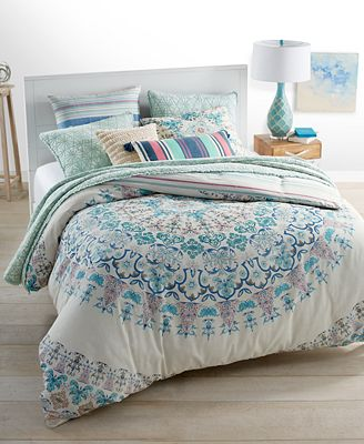 Whim by Martha Stewart Collection Full Moon Reversible Bedding Collection, Only at Macy's
