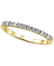 Diamond Band (1/4 ct. t.w.) in 10k Gold or White Gold