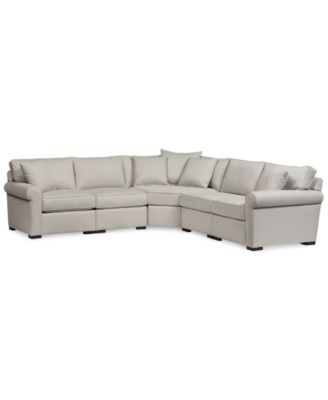 "Astra 5-Pc. ""L"" Shaped Fabric Sectional, Created for Macy's"