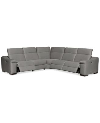 Kelsee 5-pc Fabric Sectional Sofa with 3 Power Recliners Created for Macyu0027s  sc 1 st  Macyu0027s : sectional macys - Sectionals, Sofas & Couches