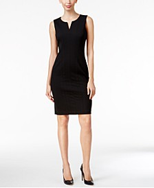 Petite Split-Neck Sheath Dress