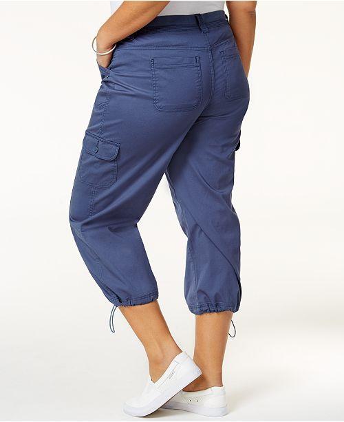 a272d3eca26 Style   Co Plus Size Capri Cargo Pants