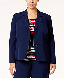 Kasper Plus Size Seamed Blazer