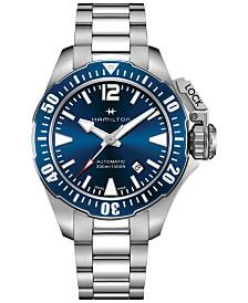 Hamilton Men's Swiss Automatic Khaki Frogman Stainless Steel Bracelet Watch 42mm H77705145